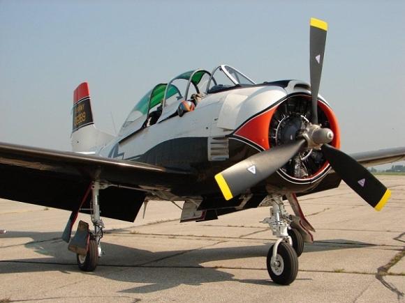 North-American-Aviation-T-28B-Trojan-Aircraft